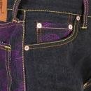 RMC JEANS Violet Vintage Cut Design Dark Indigo Raw Denim Jeans