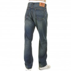 Washed Vintage Selvedge Indigo Denim Jeans for Men