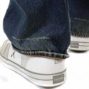 RMC JEANS Washed Vintage Selvedge Indigo Denim Jeans for Men