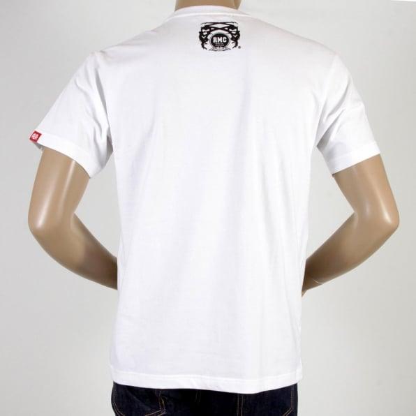 RMC JEANS White Crew Neck Regular Fit Mens Short Sleeve T-shirt