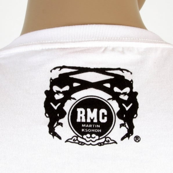 RMC JEANS White Crew Neck Regular Fit Mens Short Sleeve T-shirt