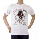 RMC JEANS White Crew Neck Regular Fit Short Sleeve T-shirt for Men