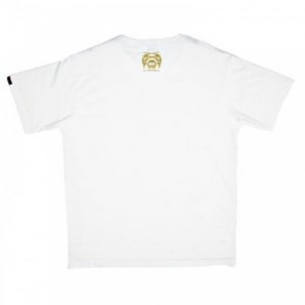 RMC JEANS White Crew Neck Regular Fit Short Sleeve T-shirt with Printed Crest