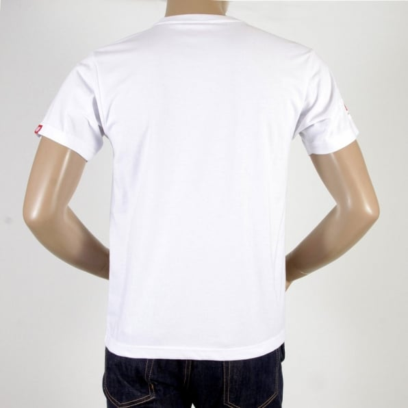 RMC JEANS White Crew Neck Short Sleeve Regular Fit Charity T-shirt