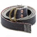 RMC JEANS White embroidered denim belt