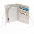 RMC JEANS White Leather Bill Fold Credit Card Leather Wallet