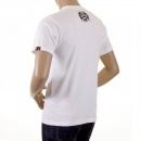 RMC JEANS White Poker Playing Card Crew Neck Regular Fit Short Sleeve T-Shirts for Men