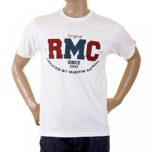 RMC JEANS White Regular Fit Short Sleeve Crew Neck T-shirt