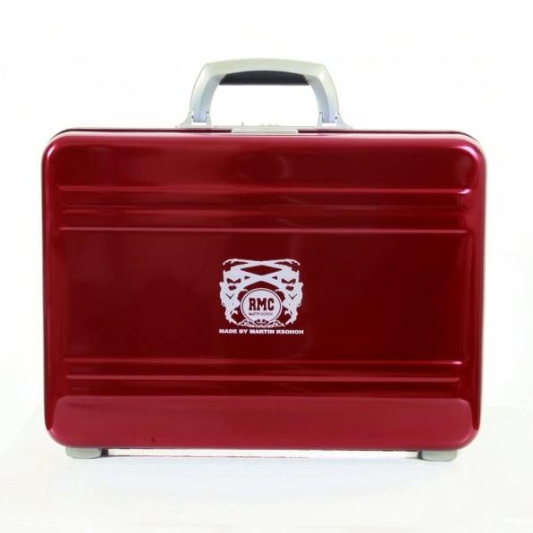RMC JEANS X Zero Halliburton Limited Edition Deep Red Aluminium Briefcase