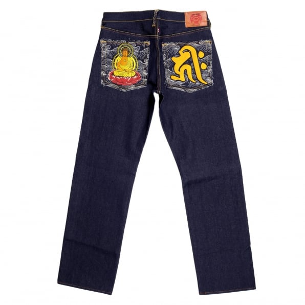 RMC JEANS Year of the Dog Exclusive Design Dark Indigo Raw Denim Jeans