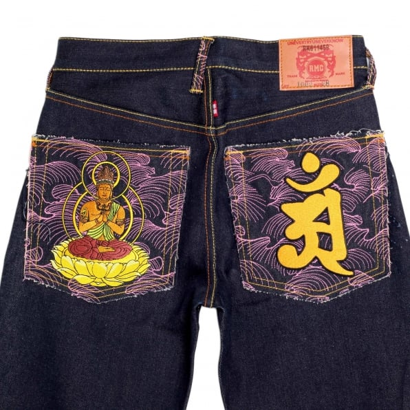 RMC JEANS Year of the Dragon Exclusive Design Dark Indigo Raw Denim Jeans