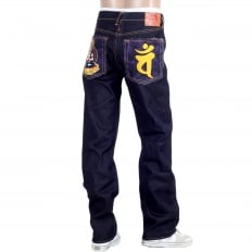 Year of the Monkey Exclusive Design Dark Indigo Raw Denim Jeans