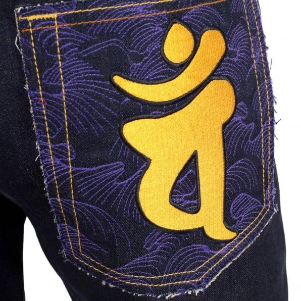 RMC JEANS Year of the Monkey Exclusive Design Dark Indigo Raw Denim Jeans
