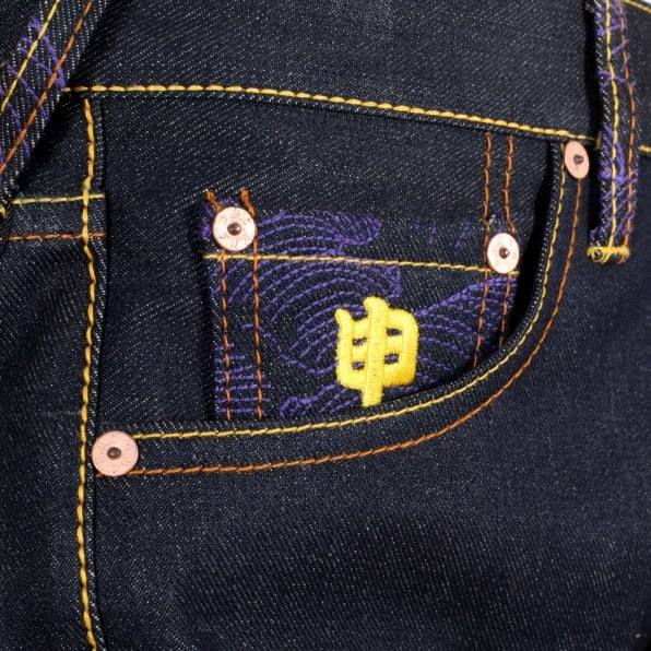 RMC JEANS Year of the Monkey Exclusive Design Dark Indigo Raw Denim Jeans