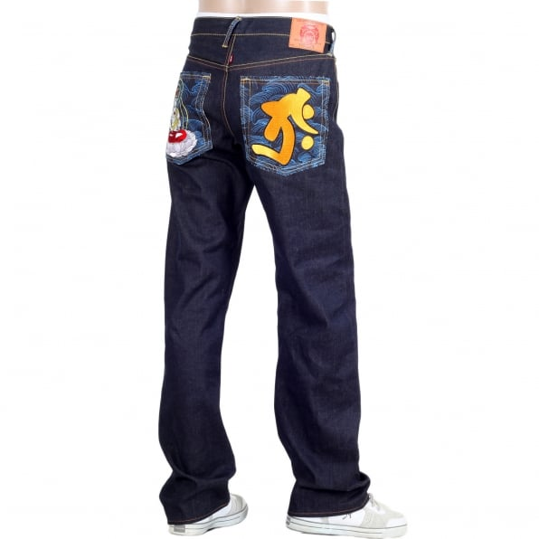 RMC JEANS Year of the Ox Exclusive Design Dark Indigo Raw Denim Jeans