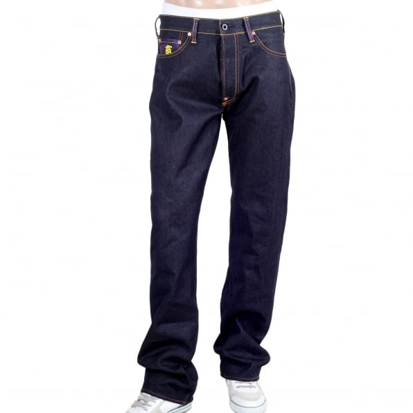 RMC JEANS Year Of The Pig Mens indigo vintage cut raw selvedge dark denim jeans