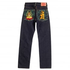Year of the Rabbit Exclusive Design Dark Indigo Raw Denim Jeans