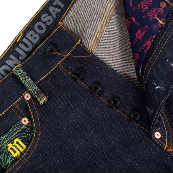 RMC JEANS Year of the Rabbit Exclusive Design Dark Indigo Raw Denim Jeans