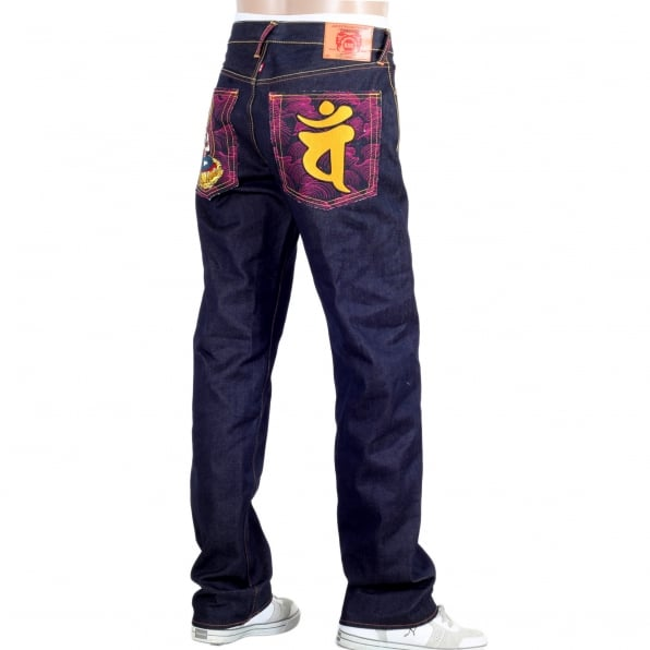 RMC JEANS Year of the Ram Exclusive Design Dark Indigo Raw Denim Jeans