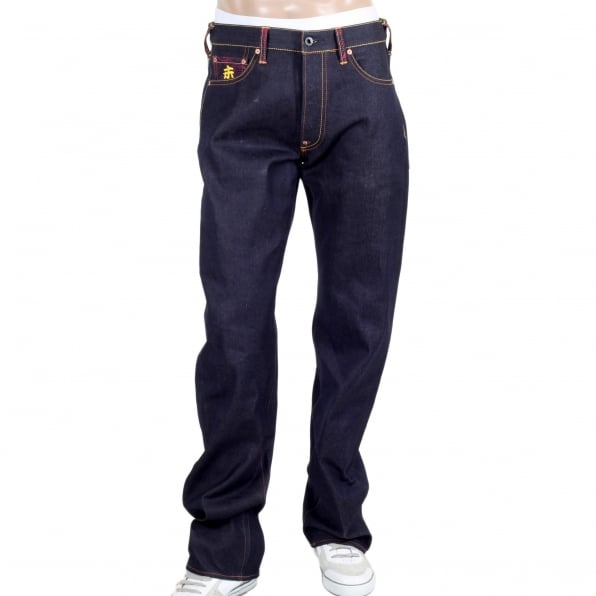 RMC JEANS Year of the Ram Exclusive Design Dark Indigo Raw Denim Jeans