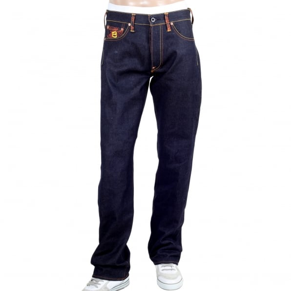 RMC JEANS Year of the Snake Exclusive Design Dark Indigo Raw Denim Jeans