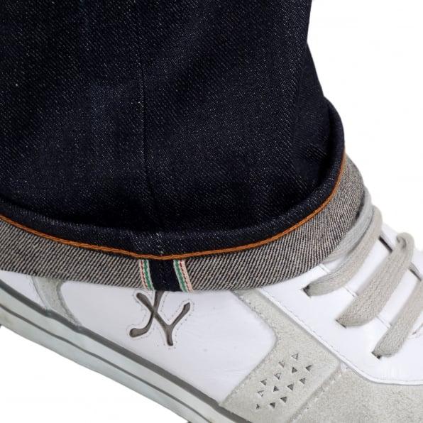 RMC JEANS Year of the Snake Exclusive Design Dark Indigo Raw Denim Jeans