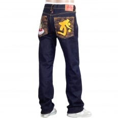 Year of the Tiger Exclusive Design Dark Indigo Raw Denim Jeans