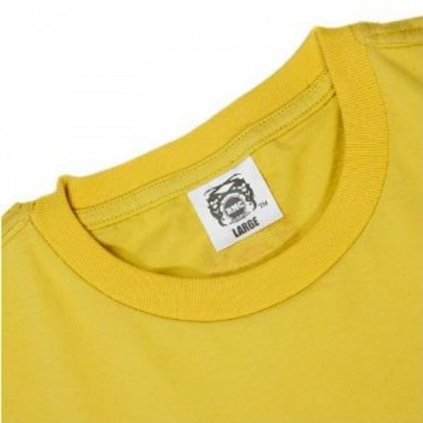 RMC JEANS Yellow Crew Neck Regular Fit Geisha T-shirt in 100% Cotton