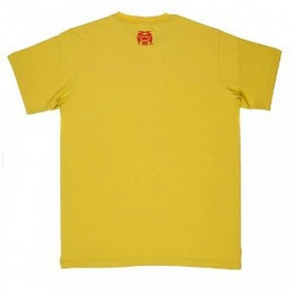 RMC JEANS Yellow crew neck regular fit short sleeve t-shirt