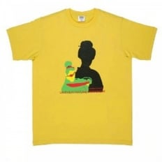 Yellow Knifemen Printed Crew Neck Regular Fit T-Shirt