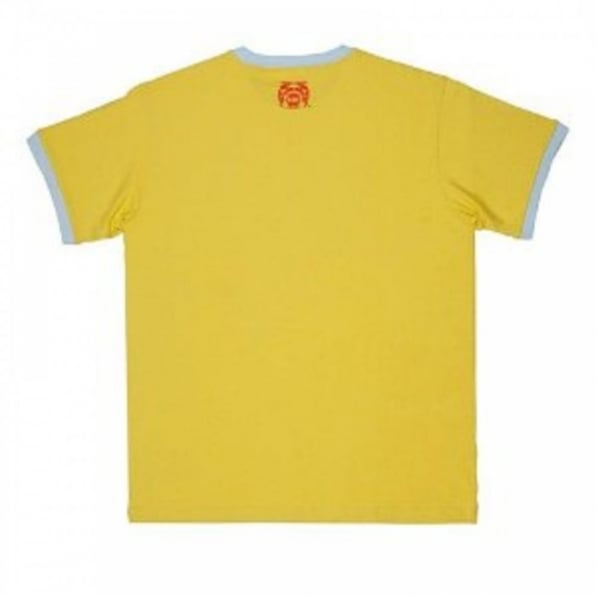 RMC JEANS Yellow regular fit crew neck short sleeve t shirt