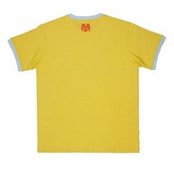 RMC JEANS Yellow regular fit crew neck short sleeve t shirt