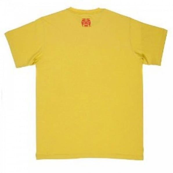 RMC JEANS Yellow Regular Fit crew neck short sleeve t-shirt with Shehana Yogahar Flower