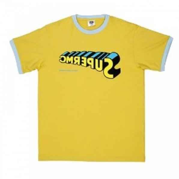 RMC JEANS Yellow regular fit short sleeve crew neck t-shirt
