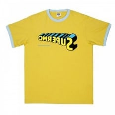 Yellow regular fit short sleeve crew neck t-shirt