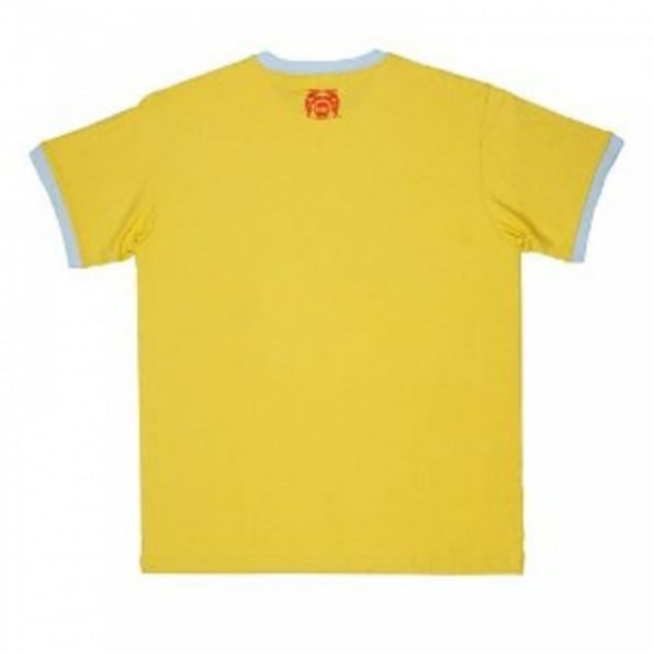 RMC JEANS Yellow regular fit short sleeve crew neck t-shirt