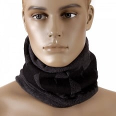 Charcoal Grey Fleece Neck Warmer Snood
