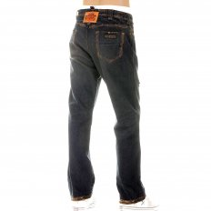 Exclusive Design Washed Vintage Cut Aged Worn Finish Denim Jeans for Men
