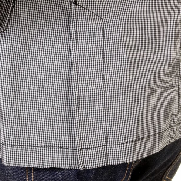 RMC MKWS Mens Black And White Fine Check Slimmer Fit Cotton Lightweight Jacket