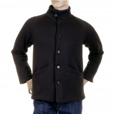 Mens Black Button up Regular Fit Jacket with fleece line