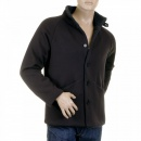 RMC MKWS Mens Black Button up Regular Fit Jacket with fleece line