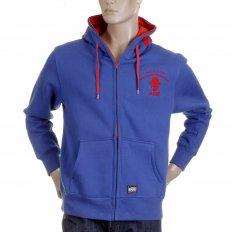 Mens Blue Empire Hooded Zipped Regular Fit Sweatshirt