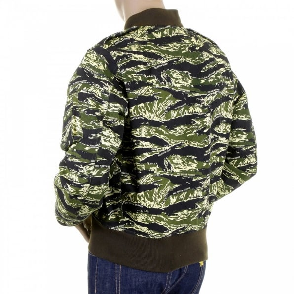 RMC MKWS Mens Camouflage Green Zip Up Regular Fit Bomber Jacket