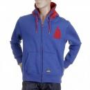 RMC MKWS Mens Hooded Zipped Regular Fit Sweatshirt in Royal Blue