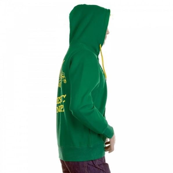 RMC MKWS Mens Kelly Green Hooded Zipped Regular Fit Sweatshirt
