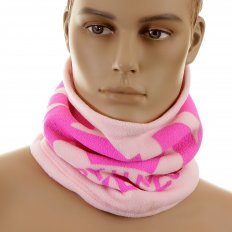 Mens Light Pink Reversible Neck Warmer Snood