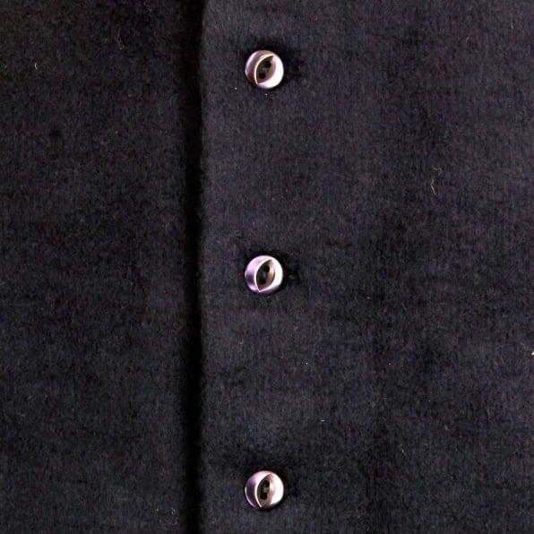 RMC MKWS Mens Navy Plush Fleece Sleeveless Regular Fit Jacket Gilet