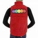 RMC MKWS Mens Red Plush Fleece Zip Up Sleeveless Regular Fit Vest Gilet