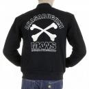 RMC MKWS Mens Regular Fit Zip Up Black Baseball Jacket