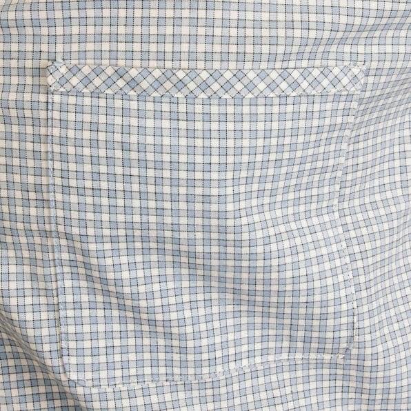 RMC MKWS Mens Sky Blue Check Penny Collar Long Sleeve Regular Fit Shirt
